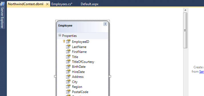 Linq To Sql Table Added
