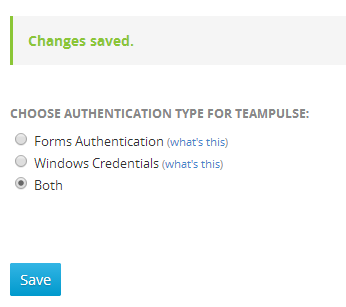 Successful change of authentication type