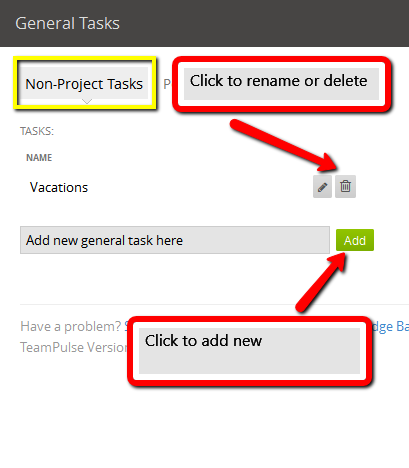 non project tasks