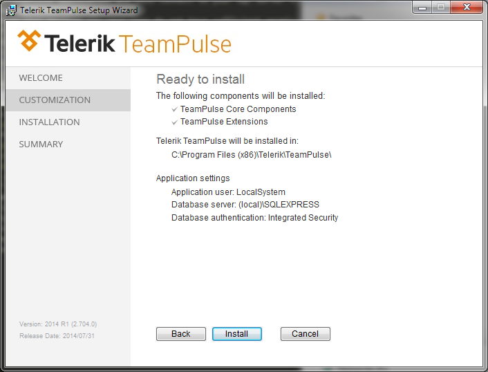 Ready To Install TeamPulse