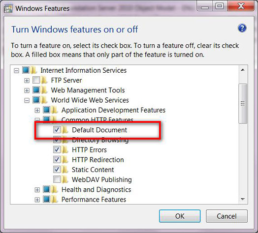 Installing Instructions for Webserver IIS7