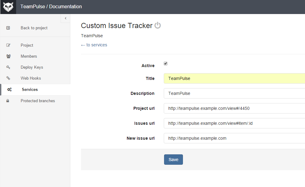 GitLab Custom Issue Tracker