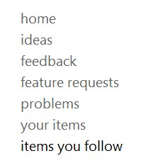 Items you follow