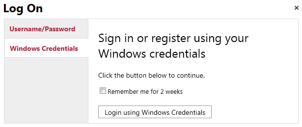 Log in windows account