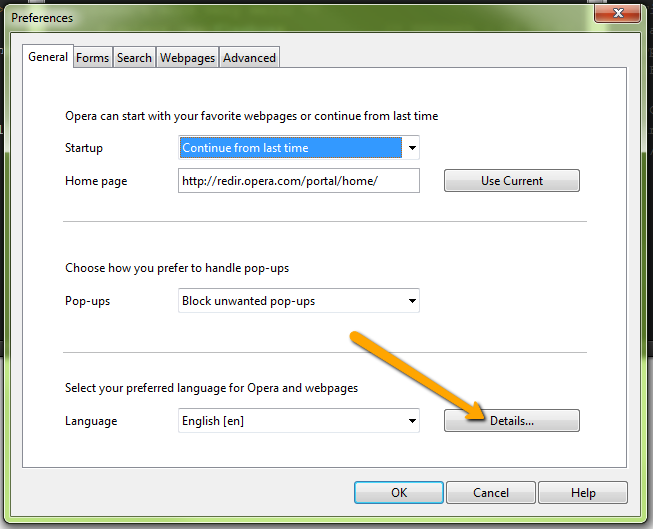 opera language and input settings 1