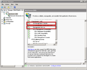 Enabling IIS Management Console or IIS Management Service in Windows Server 2008