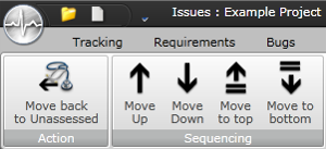 Issue sequencing buttons