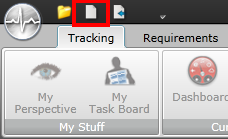 New Project - Quick Access Toolbar