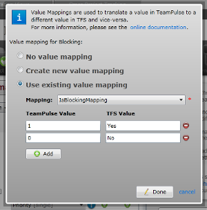 TFS import: value mappings