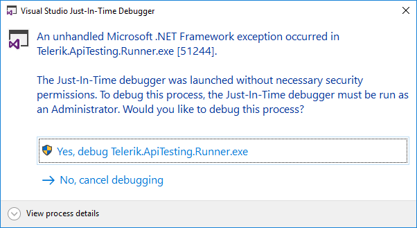 Accept Debug Prompt