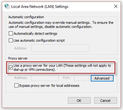 Dummy proxy server internet explorer