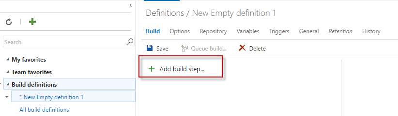 Add a build step