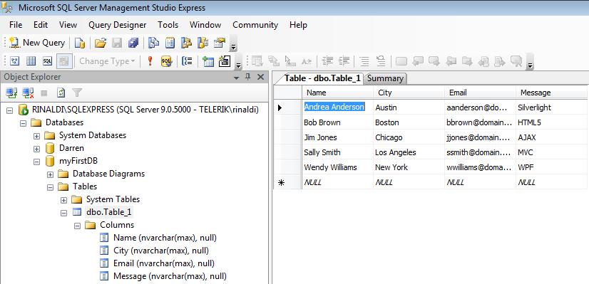 Access Sql Database