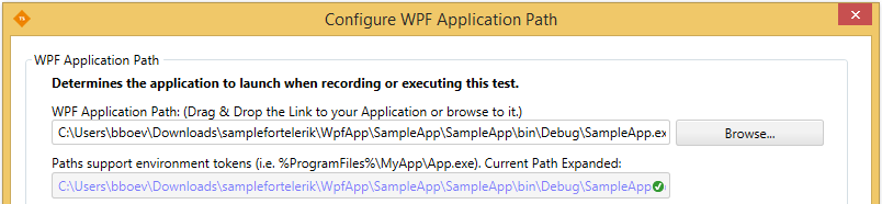 Configure WPF path