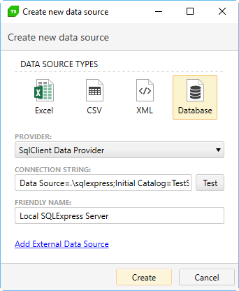 Database source