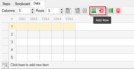 Add/Delete Row