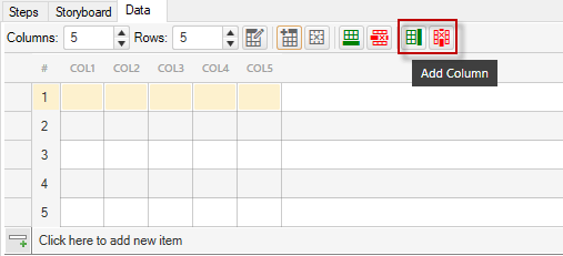 Add/Delete Column