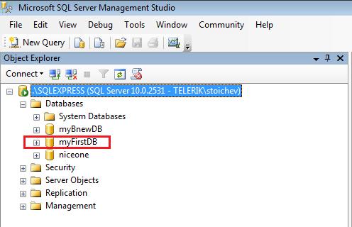 SQL Database Example | Progress Test Studio