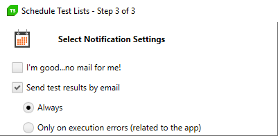 Select Notification Setting