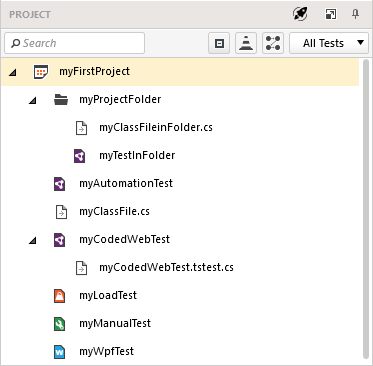 File Types in the Project