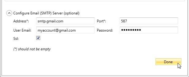 Results Through Gmail | Progress Test Studio