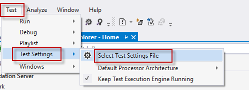 Assign to Test Explorer
