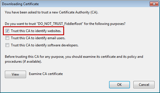Firefox HTTPS Error with Custom Proxy | Progress Test Studio